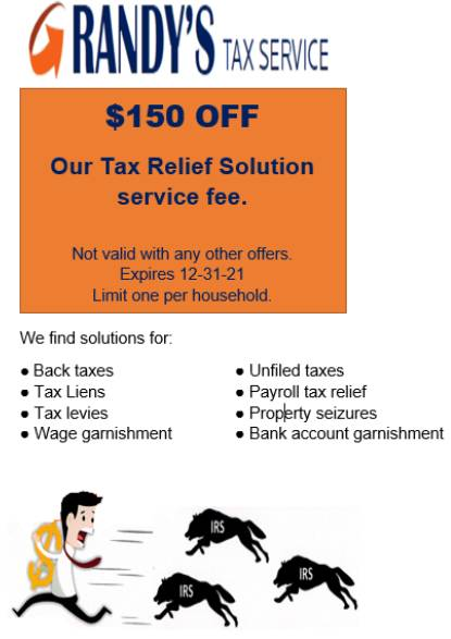 Solutions Offered by Randy's Tax Service LLC